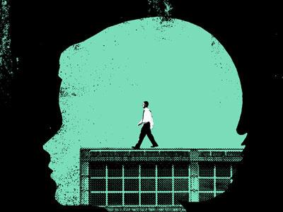 Worries Art Print art illustration design silhouette vintage worry worries