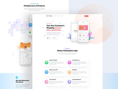 Home Page Design for Dokan App illustraion product design ui  ux app design landing page app landing