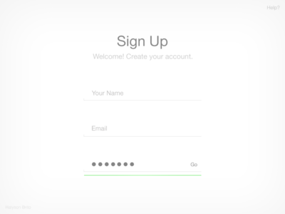 Simple Sign up