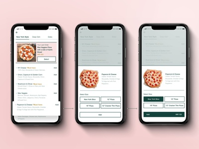 Web App for The Pizza Kitchen visual design webapp app web user interface design userinterface product design user interface user experience uidesign ui  ux uiux