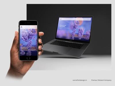 Website Design for a Biotech Company
