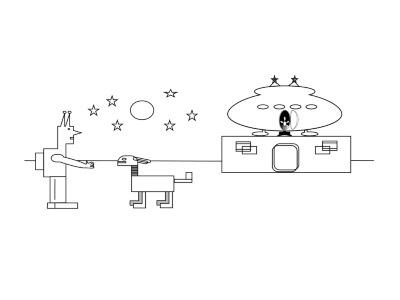 A Vector Scene abstract scifi monochrome vectorartwork adobeillustrator illustrator vector