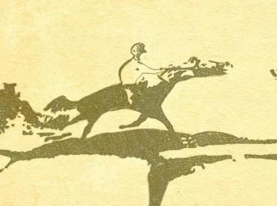 Horse Rider on Vintage Paper fantasy art fantasy horse rider horse logo horse