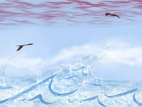 ocean i chmury