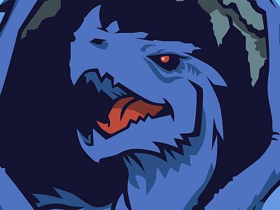 The Wyvern branding dragon character blue vector illustraion