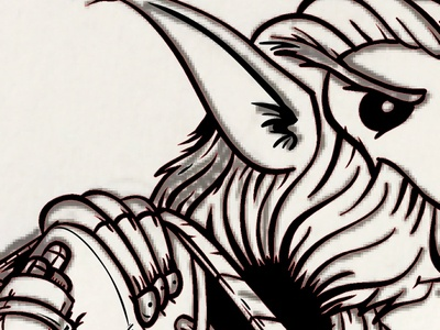 Bothan Ink illustration vector black bothan