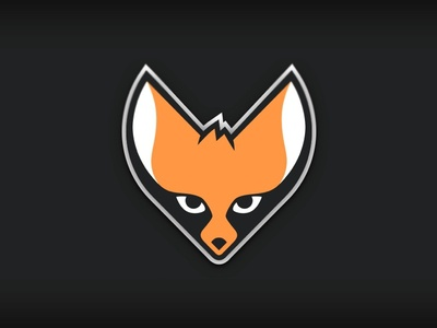 Riafox Logo illustration logo fox black vector