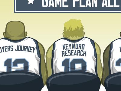Game Plan web design basketball gdd vector color illustration