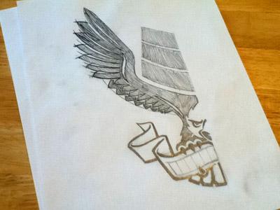E6 Eagle eagle logo sketch pencil paper drawing