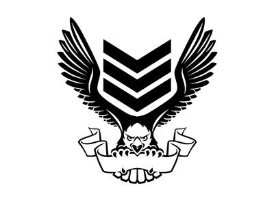 E6 Eagle Part 3 vector eagle black white logo