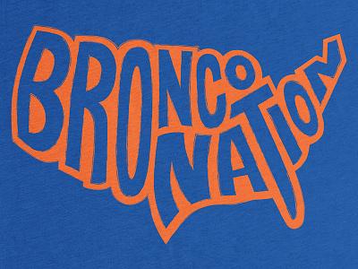Bronco Nation bronco boise orange blue t-shirt