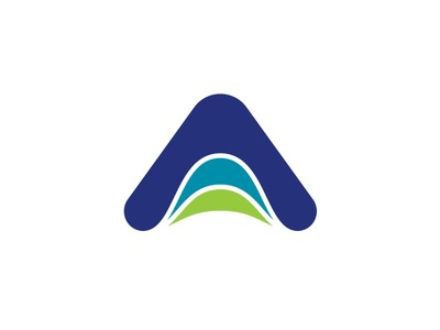 Altitude Physical Therapy green blue physical therapy vector logo