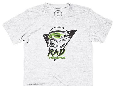Rad Trooper black green illustration rad star wars t-shirt