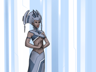 Radia blue tron illustration