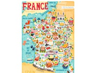 France food map illustration by Liv Wan