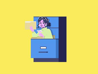 The Organizer 📁 graphic design web illustrator ui lottie vector animation motion character animation characterdesign character branding illustration design