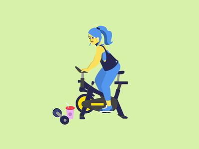 The Gym Bunny💪 graphic design vector lottie character animation character character design motion design motion web illustrator animation branding ui illustration design