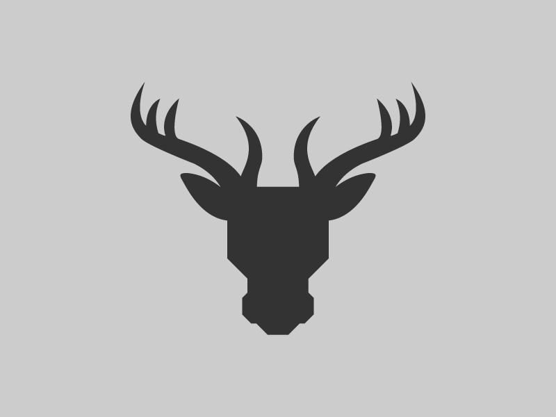 Moose Head animal logo marque minimal simple grey illustration