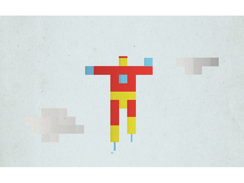 Iron Man pixel superhero iron man marvel comic illustration minimal simple icon