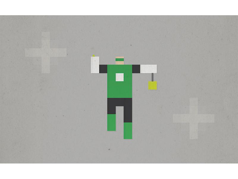 Green Lantern pixel superhero green lantern green lantern dc comic illustration minimal simple icon