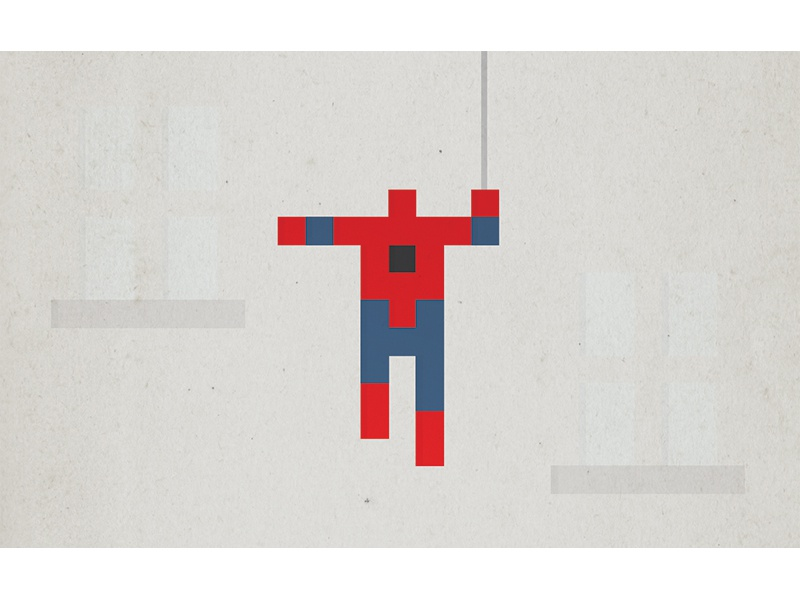 Spider Man icon simple minimal illustration comic marvel spider-man spiderman spider man superhero pixel