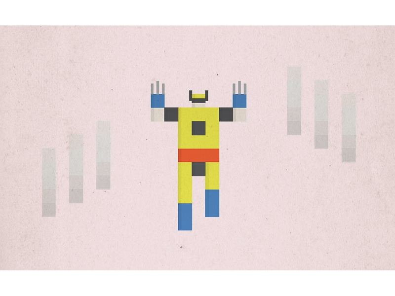 Wolverine pixel superhero wolverine x-men marvel comic illustration minimal simple icon