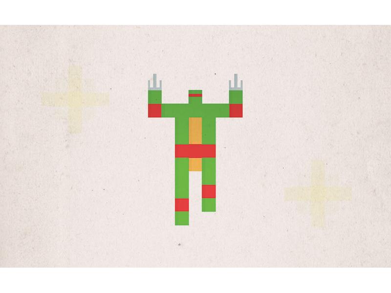 Simple Pixel Raphael simple minimal illustration tmnt teenage mutant ninja turtle retro 80s nostalgia childhood superhero pixel