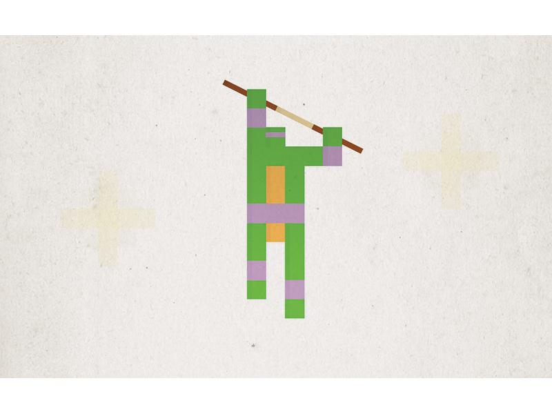 Simple Pixel Donatello simple minimal illustration tmnt teenage mutant ninja turtle retro 80s nostalgia childhood superhero pixel