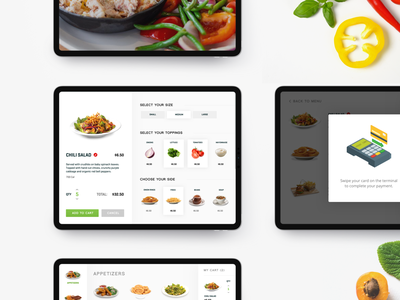Kiosk Tablet Experience design restaurant ordering pos sketch ui mobile food kiosk