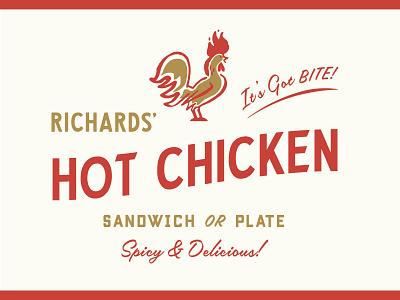 Hot Chicken southern hot georgia fried fox chicken atlanta logo