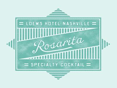 Rosarita fruit vintage tequila rosemary rose postcard cocktail