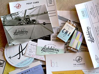 planes, trains coaster airport plane aviation postcard collateral matchbooks menu restaurant