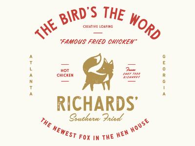 Bird's The Word 1950s atlanta fox fried chicken vintage lettering type