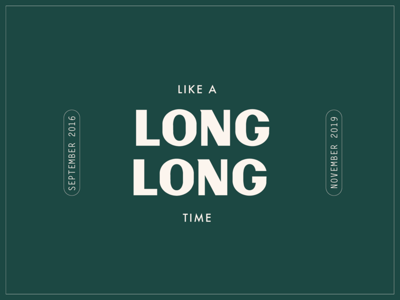 Like a Long Long Time design type atlanta typography identity vintage logo lettering