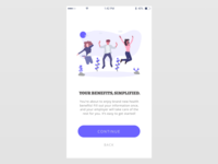 SaaS User Onboarding Screen - Mobile