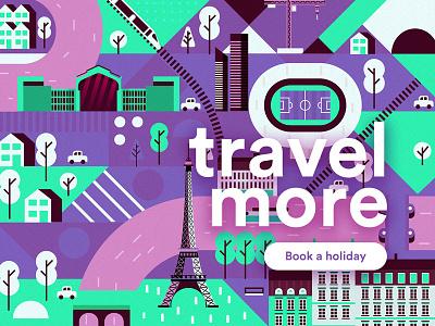 Travel more concept holiday travel helsinki finland illustrator map vector px8 paris illustration ui
