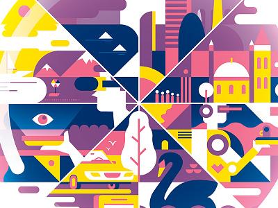Crystal Ball salinero geometric illustrator vector finland helsinki px8