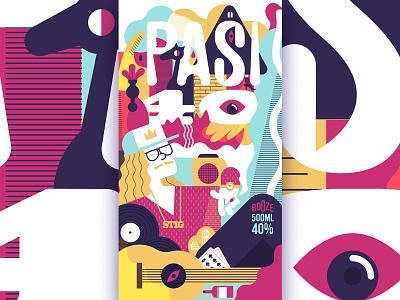 B-day booze label 2 illustration label design vector px8 finland helsinki illustrator