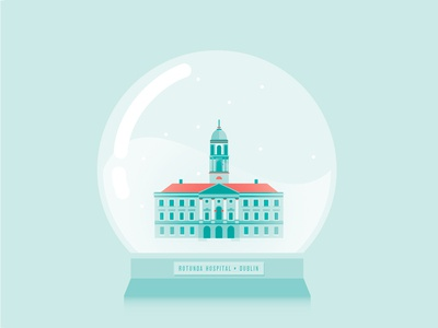 Rotunda Hospital, Dublin ireland building house collection globe tower neo classic palladian capital city town hospital snow globe snow dublin architecture rotunda illustrator