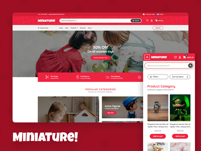 Miniature! - WooCommerce Theme web design ecoommerce template ecommerce website template template theme wordpress woocommerce