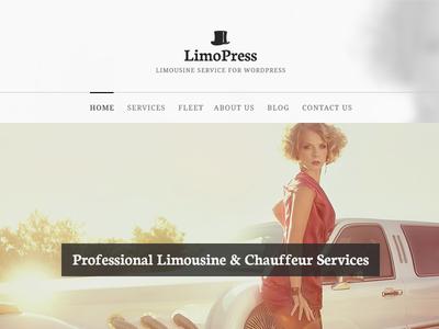 Limopress - Limousine service theme for WordPress theme limo limousine web design wordpress light