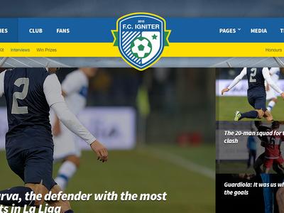 FC Igniter - Sports Theme For WordPress sports theme wordpress web design template soccer football