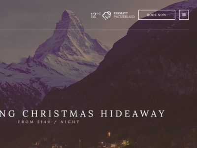 Zermatt - Upcoming Hotel theme for WordPress