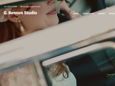 Benson - Upcoming WordPress theme for photographers photographer wedding photography template theme wordpress
