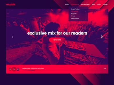 Muzak - A music theme for WordPress - v5.0 theme dj band wordpress music