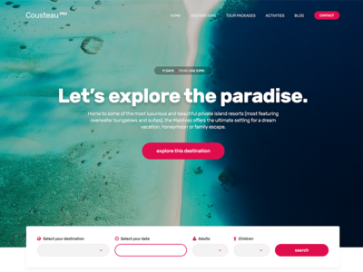 CousteauPro - A travel theme for WordPress - Coming soon destinations tour travel template theme wordpress