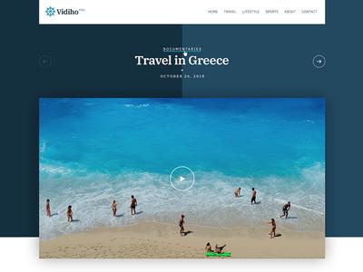 Vidiho Pro - A video theme for WordPress - Coming soon theme wordpress web design template video