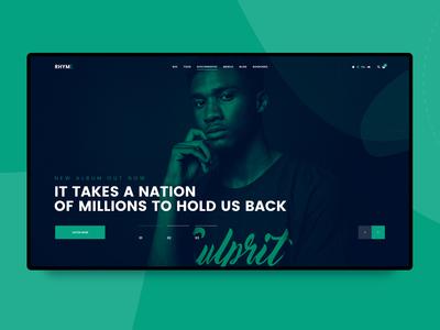 Rhyme - Upcoming WordPress theme for musicians dj music ui template design cssigniter wordpress web design theme