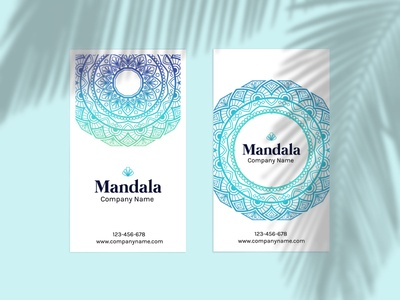 Summer Mandala Design Card