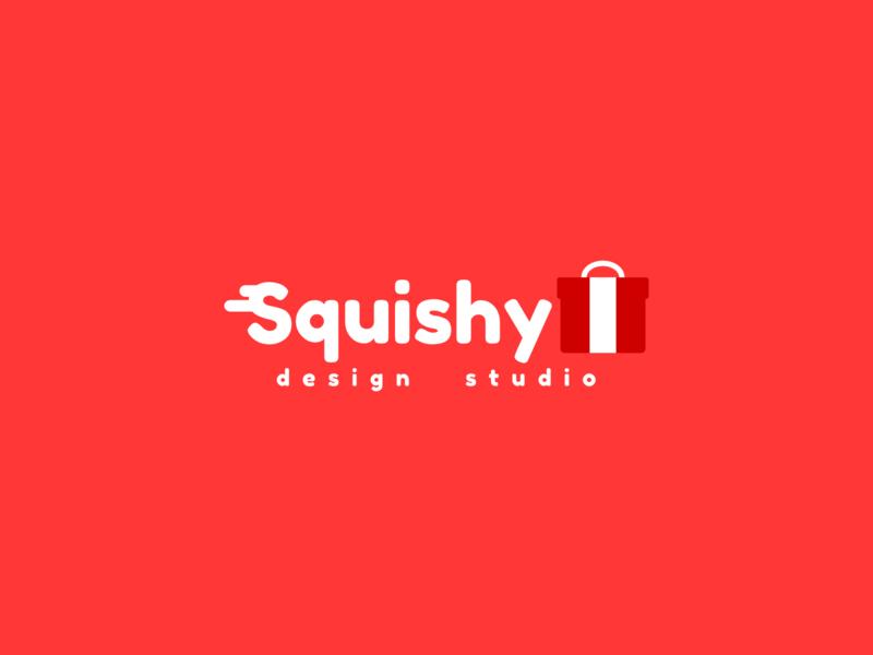 new logo for squishy design studio typography indonesia branding digital art vector logo illustration design